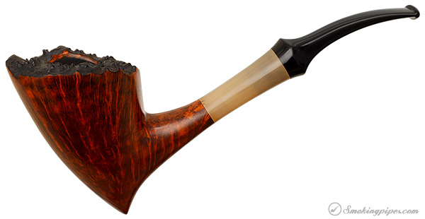 Danish Estate Lasse Skovgaard Smooth Bent Dublin with Horn (2) (Unsmoked)