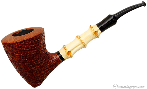 Danish Estate Lasse Skovgaard Sandblasted Bent Dublin with Bamboo (Lion) (Unsmoked)