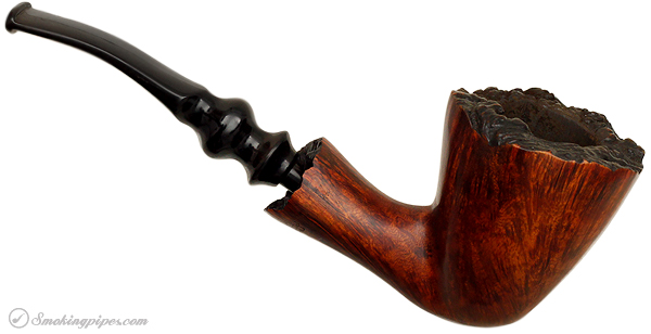 Danish Estate Ben Wade Free-Hand Smooth Bent Dublin with Plateau