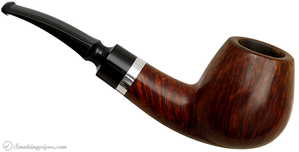 Danish Estate Jorn Larsen Smooth Bent Brandy with Silver Band