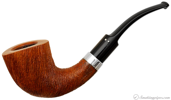 Danish Estate Poul Winslow Rusticated Bent Dublin with Silver Band (E)
