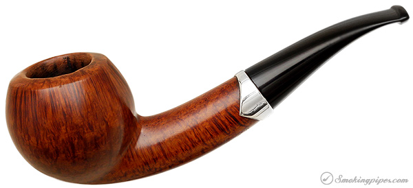 Danish Estate S. Bang Smooth Bent Apple with Silver Band (7) (9mm)