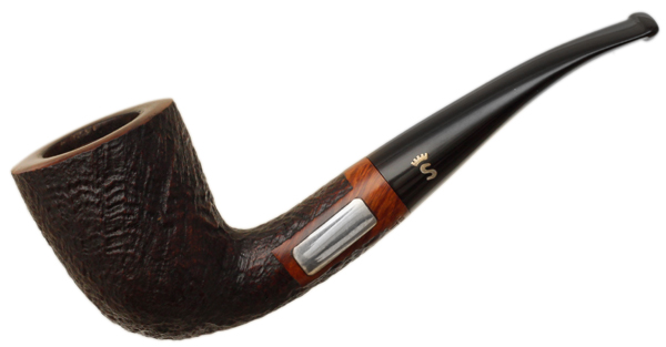 Stanwell Sandblasted Bent Dublin with Silver