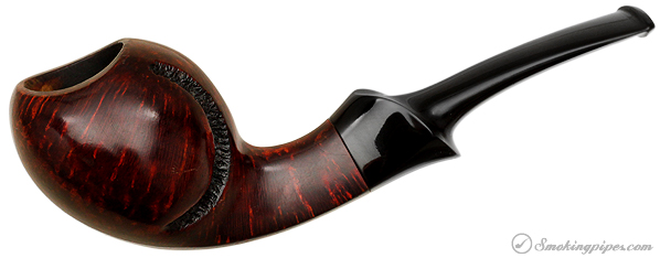 Danish Estate Peter Heding Partially Rusticated Bent Apple (Silver)