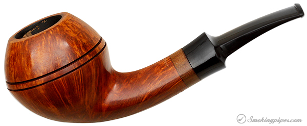 Danish Estate W. O. Larsen Straight Grain Smooth Bent Bulldog (1) (9mm)