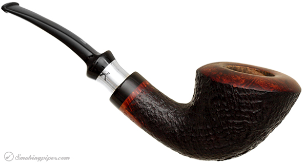 Danish Estate Stanwell Xmas Sandblasted with Silver (2002) (9mm)