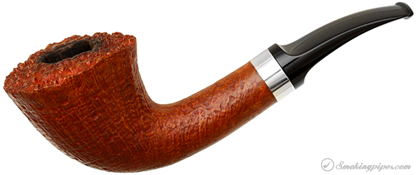 Danish Estate Benni Jorgensen Sandblasted Bent Dublin with Silver Band (3)