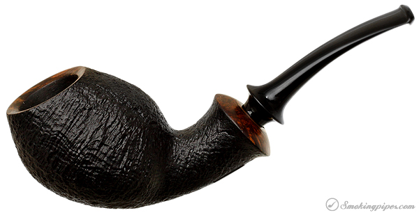 Danish Estate Peter Heding Sandblasted Bent Egg (Bronze)