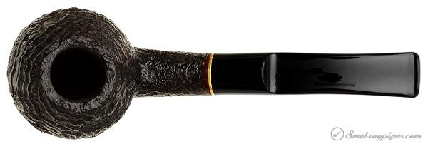Danish Estate Sara Eltang Sandblasted Bent Brandy with Brass Band (9mm) (Unsmoked)