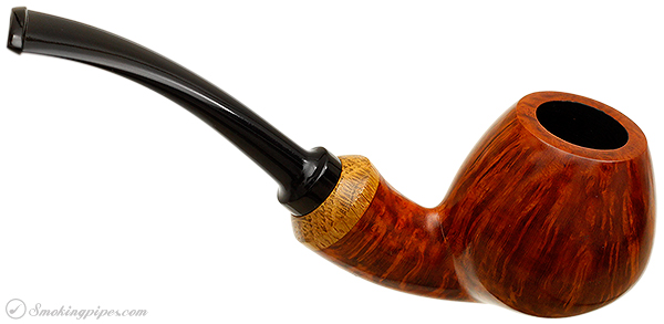 Danish Estate Peter Hedegaard Smooth Bent Brandy with Oak Ferrule (FP2) (Unsmoked)