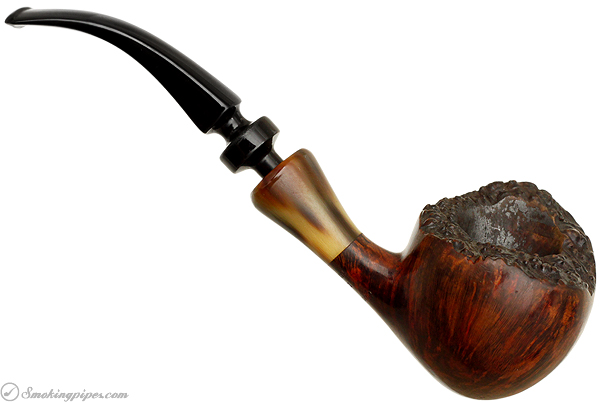 Danish Estate Svendborg Smooth Freehand with Horn Ferrule (1970s)
