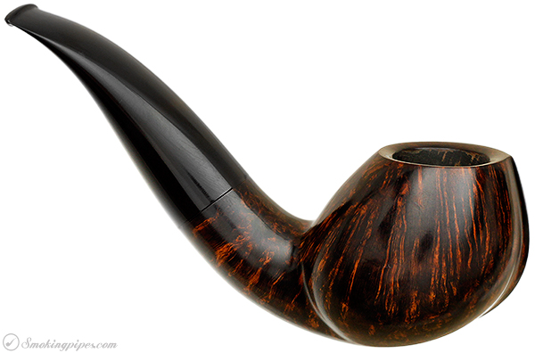 Danish Estate Peter Heding Smooth Bent Brandy (Gold) (Replacement Tenon)