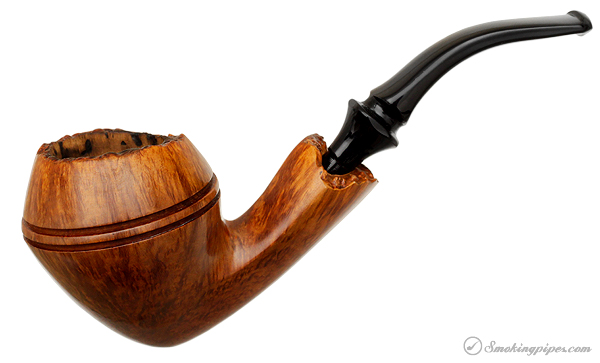 Danish Estate Nording Smooth Bent Bulldog with Plateau (Replacement Stem)