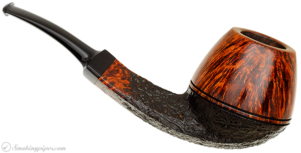 Danish Estate Kurt Balleby Partially Sandblasted Bent Bulldog (3)