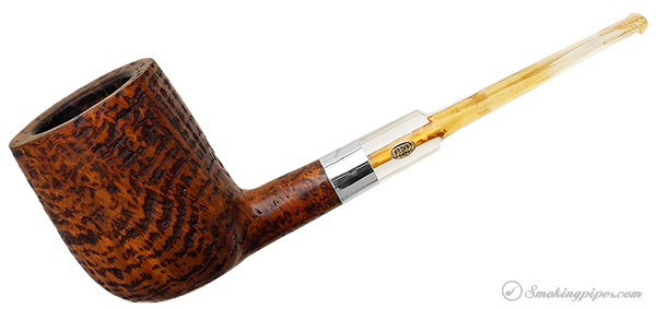 GBD Granitan Billiard with Silver Band and Perspex Stem (Colossus) (9662) (1960s-1970s)