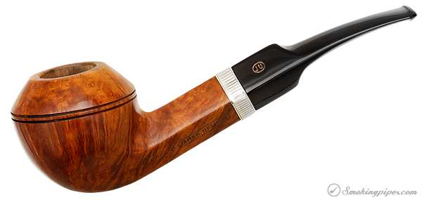 English Estate James Upshall Smooth Bent Bulldog with Silver Band (P)