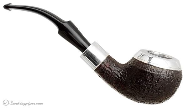 English Estate Dunhill Shell Briar with Silver Military Mount and Cap (4108) (2004)