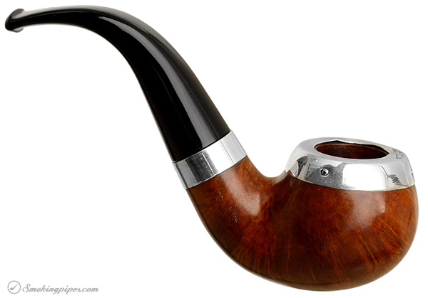 """Irish Estate Peterson """"Dublin"""" with Sterling Silver Rim Cap and Band (03) (9mm) (Fishtail) (2001) (Unsmoked)"""