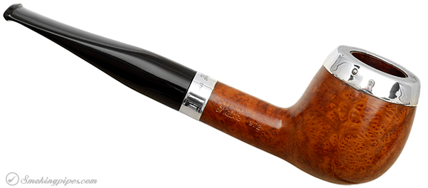 """Irish Estate Peterson """"Dublin"""" with Sterling Silver Rim Cap and Band (502) (9mm) (Fishtail) (2001) (Unsmoked)"""