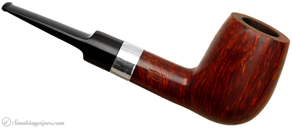 Irish Estate Peterson Hand-Made House Pipe Smooth Billiard with Sterling Silver Band (1991) (Fishtail)