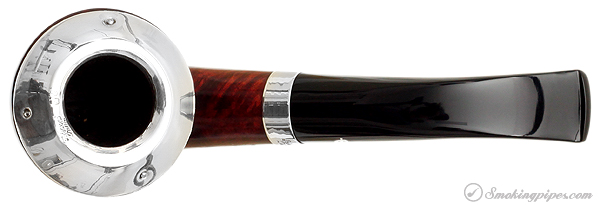 """Irish Estate Peterson """"Dublin"""" with Sterling Silver Rim Cap and Band (B10) (9mm) (Fishtail) (2003) (Unsmoked)"""