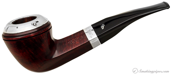 "Irish Estate Peterson ""Dublin"" with Sterling Silver Rim Cap and Band (B5) (9mm) (Fishtail) (2001) (Unsmoked)"