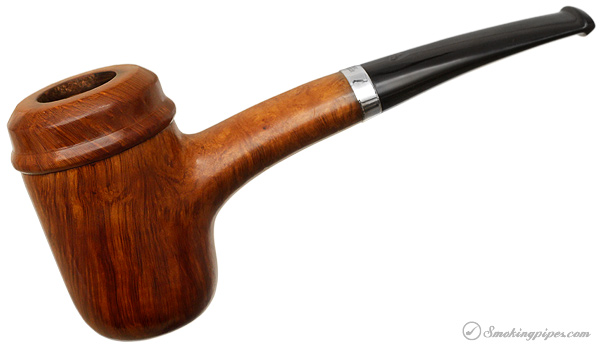 Irish Estate Peterson Hand-Made Smooth Calabash with Silver (1996) (Fishtail)