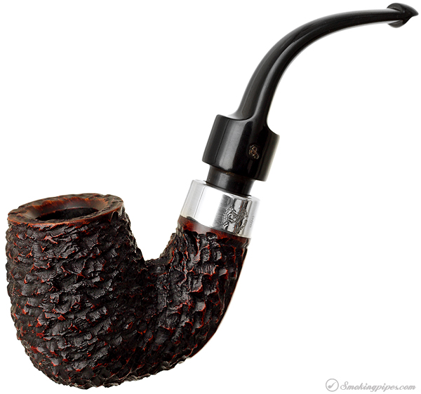 Irish Estate Peterson Hand-Made Rusticated with Silver (P-Lip) (1998)