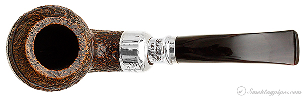 Irish Estate Peterson Sandblasted Rhodesian with Silver Spigot (2008) (Fishtail) (Unsmoked)