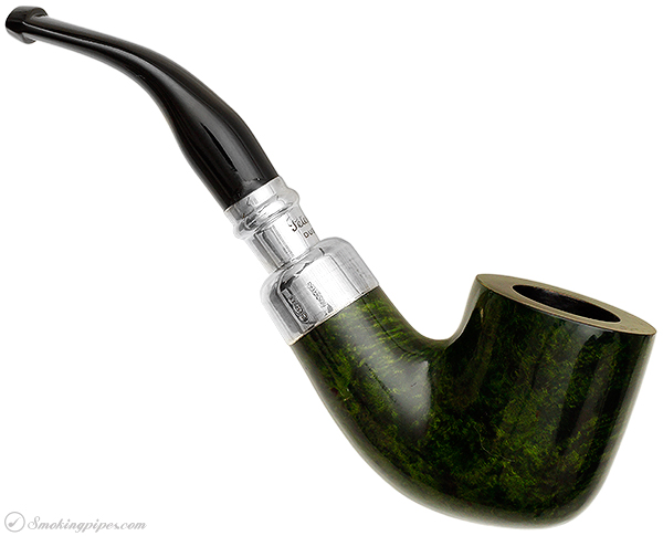 Irish Estate Peterson Green Silver Spigot (01) (Fishtail) (2004) (Unsmoked)