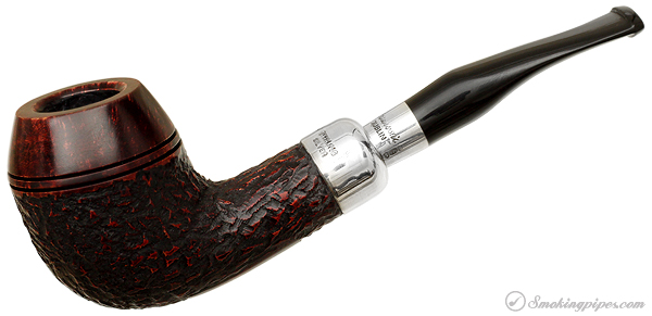 Irish Estate Peterson Rusticated Silver Spigot (XL14) (Fishtail) (2005) (Unsmoked)