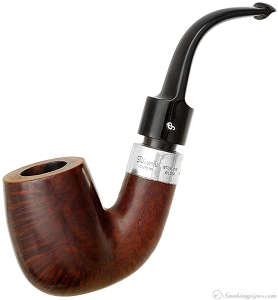 Irish Estate Peterson Hand-Made Smooth Bent Billiard with Silver (1990) (P-Lip)