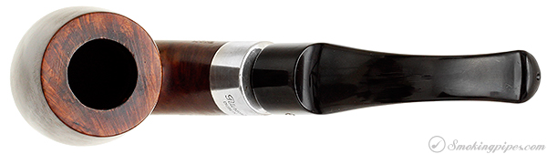 Irish Estate Peterson Hand-Made Smooth Bent Billiard with Silver (1990) (P-Lip)