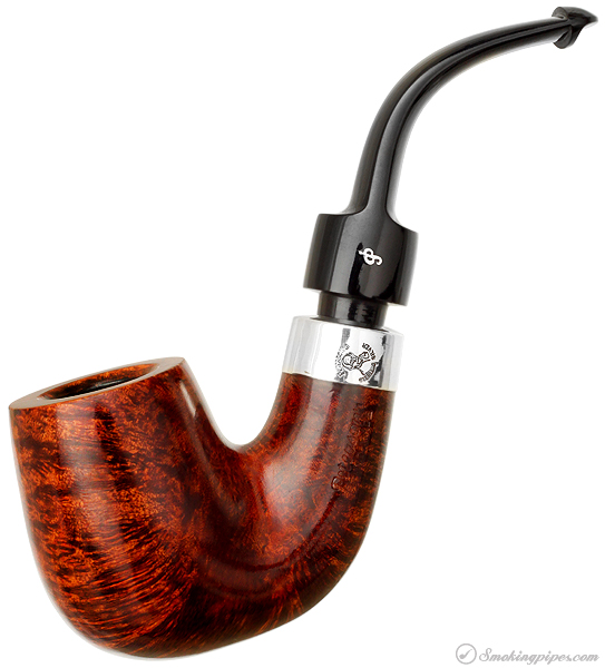 Irish Estate Peterson House Smooth Bent Billiard with Silver (P-Lip) (2011) (Unsmoked)