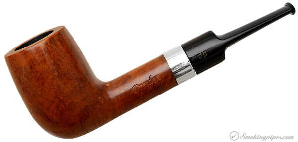 German Estate Design Berlin Dresden Smooth Billiard with Silver (50) (9mm) (Twin Bore) (Unsmoked)