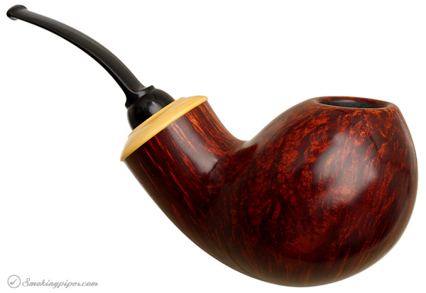 German Estate Wolfgang Becker Smooth Bent Egg with Boxwood (12) (2008) (Unsmoked)