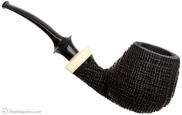 German Estate Reiner Thilo Sandblasted Morta Bent Apple with Mastodon Ivory (MS)