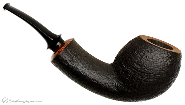 German Estate Ken Dederichs Sandblasted Bent Apple (Unsmoked)