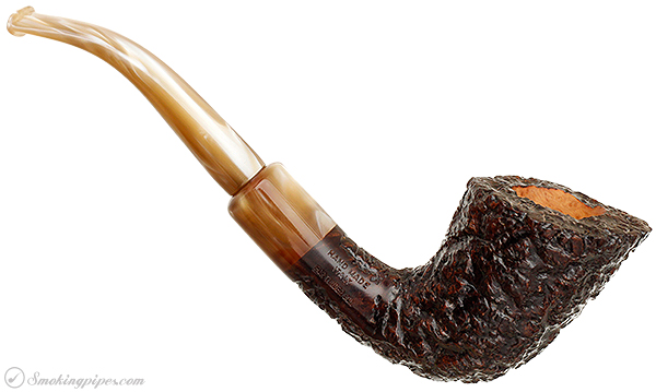 Italian Estate Ascorti Peppino Rusticated Bent Dublin (156)(For Tinderbox) (Unsmoked)