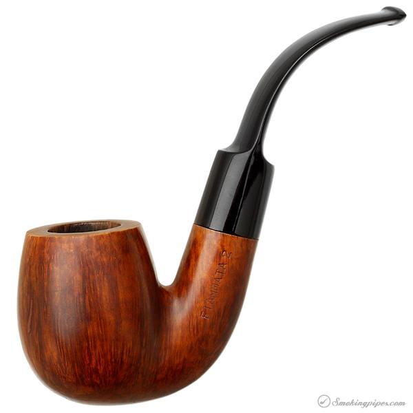 Fiammata Smooth Bent Billiard (by Savinelli) (2) (614)