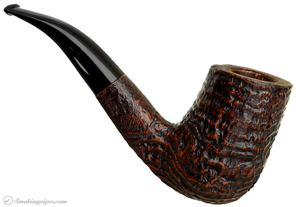 Italian Estate Savinelli Autograph Sandblasted Bent Billiard (5) (6mm)