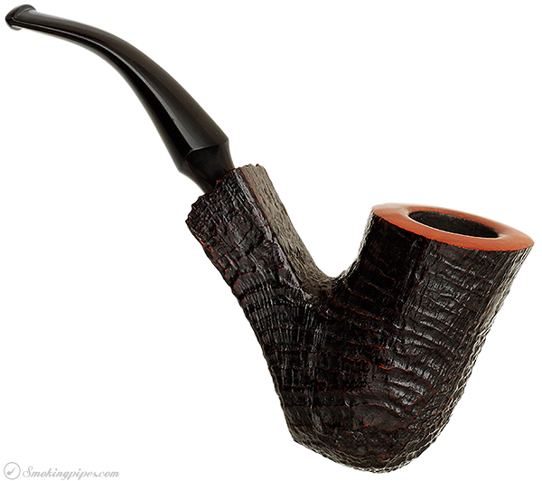 Italian Estate Savinelli Autograph Sandblasted Bent Billiard (4) (Unsmoked)