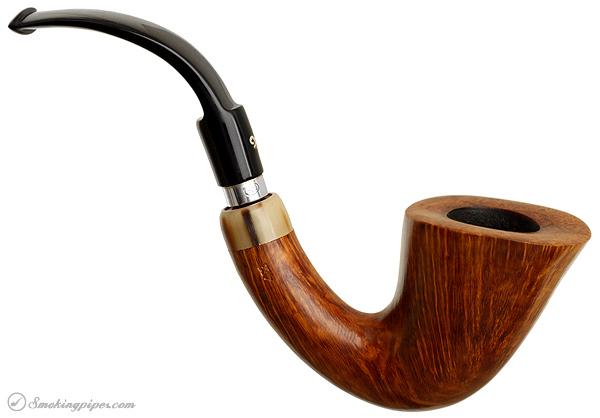 Italian Estate Luigi Viprati Smooth Bent Calabash with Horn (G) (4 Clover)