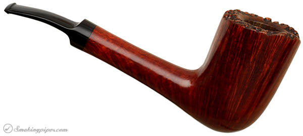 Italian Estate Savinelli Autograph Bent Billiard with Plateau (8)