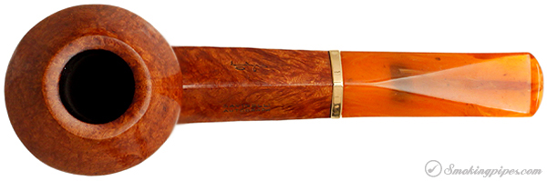 Italian Estate Savinelli Autograph Smooth Bent Bulldog with 18 KT Gold Band (Replacement Stem)