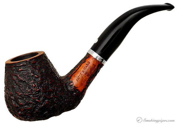 Mauro Armellini Rusticated Bent Brandy with Silver Band