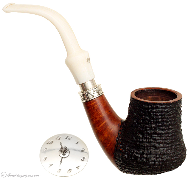 Italian Estate Luigi Viprati Paritally Rusticated Freehand Sitter with Silver Spigot and Cap (090/330) (J0)