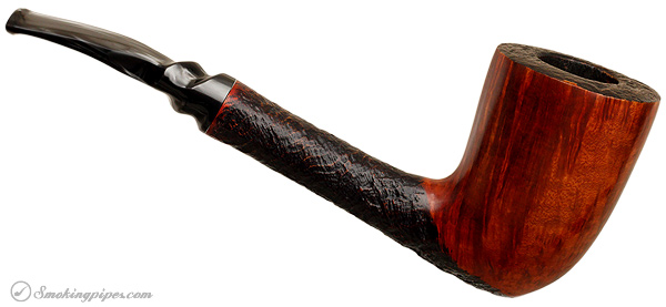Italian Estate Savinelli Autograph Partially Sandblasted Freehand (5) (Replacement Stem)