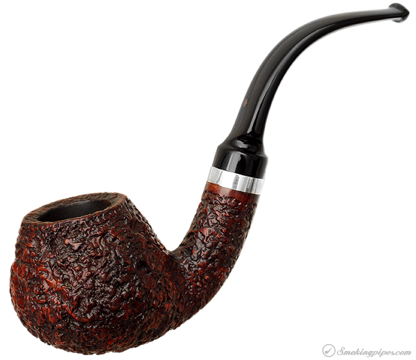 Italian Estate Ser Jacopo Rusticated Bent Brandy with Silver Band (R1)