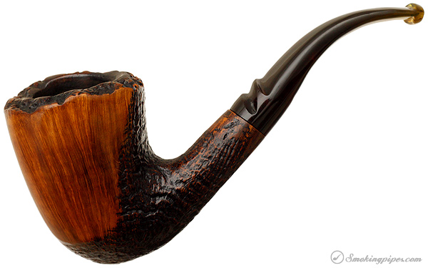 Savinelli Autograph Partially Sandblasted Freehand (4) (Replacement Stem)